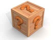 Caixa com pergunta Fotografia de Stock