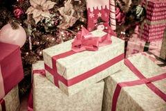 Caixa com presentes Fotos de Stock Royalty Free