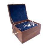 Caixa com vidro Imagem de Stock Royalty Free