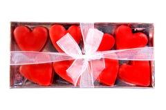 Caixa completamente dos corações Foto de Stock Royalty Free