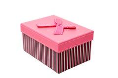 Caixa cor-de-rosa Fotografia de Stock