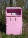 Caixa cor-de-rosa da doação da caridade Fotos de Stock