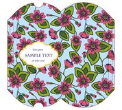 Caixa cortada do descanso com teste padrão floral Fotos de Stock Royalty Free