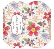 Caixa cortada do descanso com teste padrão floral Imagens de Stock Royalty Free