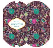 Caixa cortada do descanso com teste padrão floral Foto de Stock Royalty Free