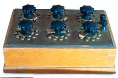 Caixa da década dos resistores do vintage Imagem de Stock