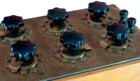 Caixa da década dos resistores do vintage Fotografia de Stock