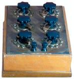 Caixa da década dos resistores do vintage Fotografia de Stock Royalty Free