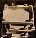 Caixa da caixa de madeira para a venda fotografia de stock