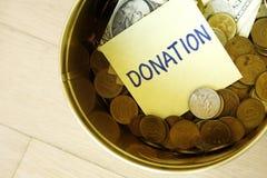 Caixa da doação Foto de Stock