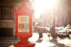 Caixa da emergência em New York fotografia de stock