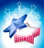 caixa da estrela de 4 julho com estrelas Ilustração Royalty Free