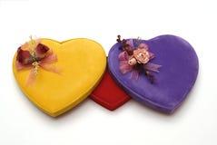 Caixa da forma do coração Fotografia de Stock