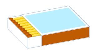Caixa da ilustração dos fósforos ilustração do vetor