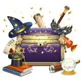 Caixa da mágica do vetor ilustração stock
