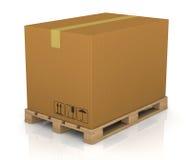 Caixa da pálete e da caixa ilustração royalty free
