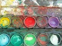 Caixa da paleta de cor Fotografia de Stock Royalty Free