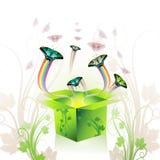 Caixa da primavera Imagens de Stock Royalty Free