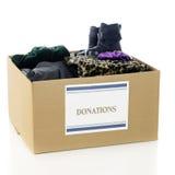 Caixa da roupa da caridade Fotografia de Stock Royalty Free