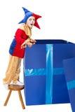 Caixa da surpresa com bobo da corte Foto de Stock