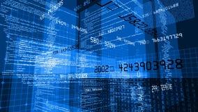 Caixa da tecnologia do código de dados ilustração stock