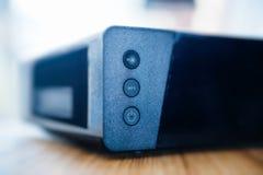 Caixa da tevê do modem do Internet fornecida pela empresa do provedor de Internet Imagem de Stock