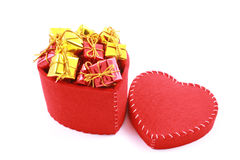 Caixa dada forma coração Imagem de Stock Royalty Free