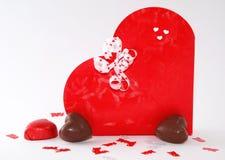 Caixa dada forma coração Foto de Stock Royalty Free