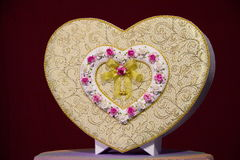 Caixa dada forma coração Imagens de Stock Royalty Free