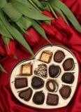 Caixa dada forma coração dos doces Fotos de Stock