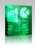 Caixa das cartas de negócio do Spreadsheet Imagem de Stock Royalty Free