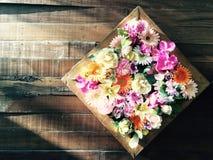 Caixa das flores fotos de stock