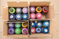 Caixa das latas Fotos de Stock
