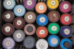Caixa das latas Foto de Stock Royalty Free