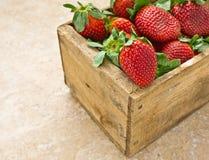 Caixa das morangos Imagens de Stock