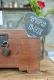 A caixa das pontas para o bom serviço fotos de stock