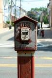 Caixa de alarme de incêndio velha Fotos de Stock Royalty Free