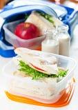 Caixa de almoço Imagens de Stock Royalty Free