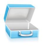Caixa de almoço azul vazia Fotos de Stock Royalty Free