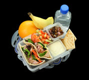 Caixa de almoço das crianças saudáveis fotografia de stock