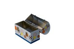 Caixa de almoço do metal Foto de Stock Royalty Free