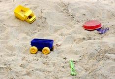 Caixa de areia com tays. Imagem de Stock Royalty Free