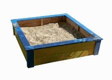 Caixa de areia no fundo branco Imagem de Stock Royalty Free