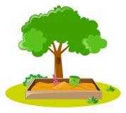 Caixa de areia no parque ilustração royalty free