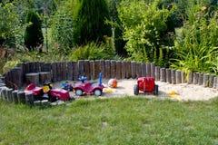 Caixa de areia para crianças Fotografia de Stock Royalty Free
