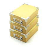 Caixa de armazenamento de papel recicl Foto de Stock