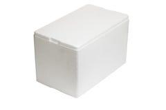 Caixa de armazenamento do Styrofoam Fotografia de Stock Royalty Free