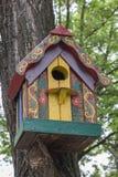 Caixa de assentamento de madeira pintada Fotos de Stock