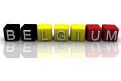 Caixa de Bélgica 3d Fotografia de Stock