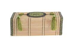 Caixa de bambu do tecido Fotografia de Stock Royalty Free